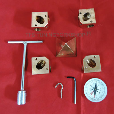 Solid Pure Copper Giza Pyramid Connecter Corner kit to fit half Inch or 12.7mm Pipes