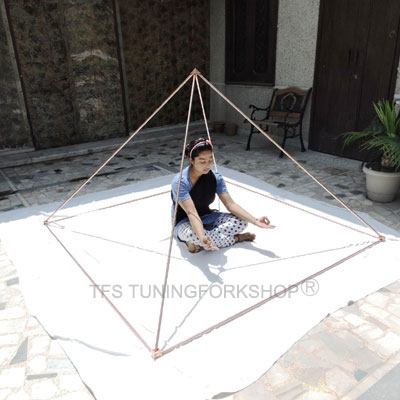 "5 Feet Solid Pure Copper Giza Pyramid Set Connecter Corner kit with 1/2"" or 12.7 mm Pipe"