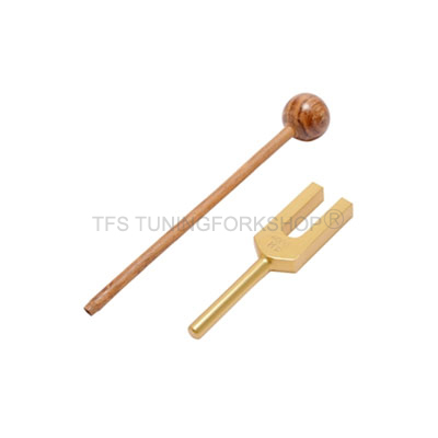 Gold Finish Crystal Tuning Fork
