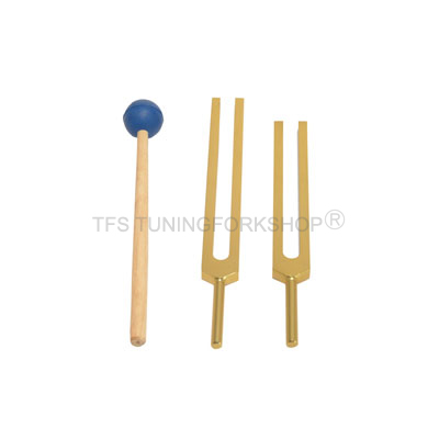 Gold Finish Cellulite Reduction Tuning Forks