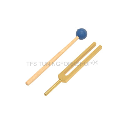 Gold Finish Energy Tuning Fork 999Hz