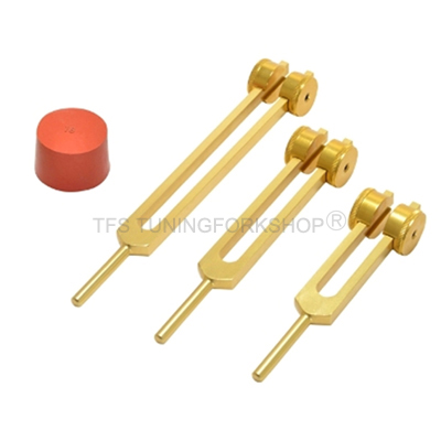 Gold Finish Otto Tuning Fork Set