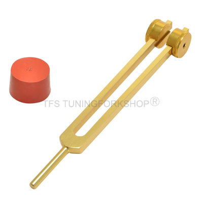 Gold Finish 50 Hz Nerve Tuning Fork