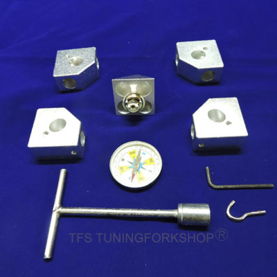 Aluminium Nubian Pyramid Connector Corner Kit to fit 1/2' or 12.7 mm pipe